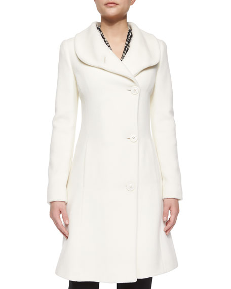 Armani Collezioni Cashmere-Blend Asymmetric Coat