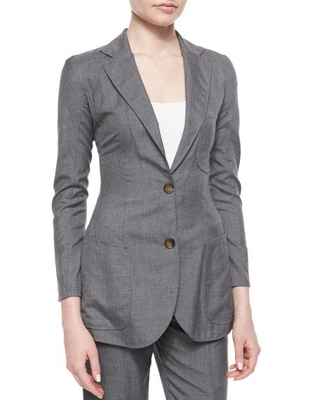 Giorgio Armani Patch-Pocket Woven Jacket