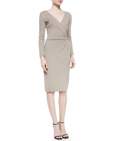 Armani Collezioni Side-Gathered Jersey Dress