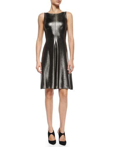 Shiny Reptile-Textured Dress