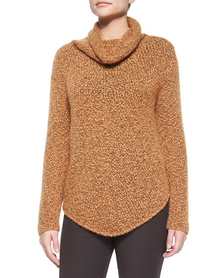 Slouchy Turtleneck Knit Sweater