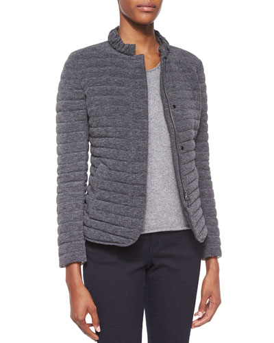 Quilted Knit Puffer Jacket