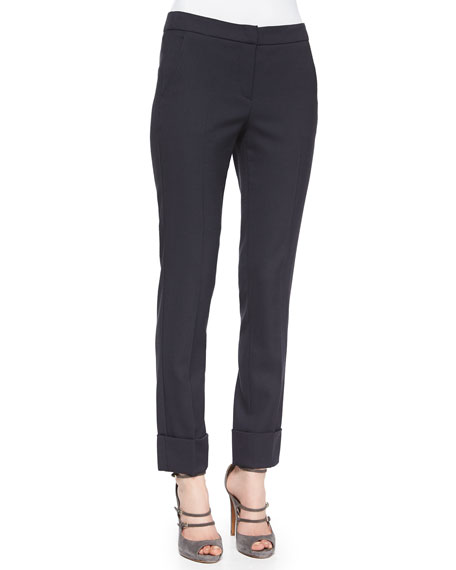 Armani Collezioni Slim-Fit Cuffed Pants