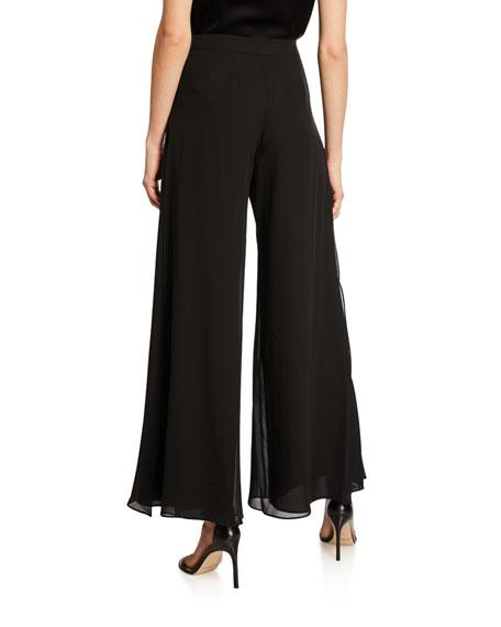 Georgette Wide-Leg Pants
