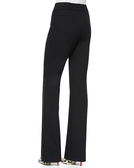Dondi Boot-Cut Pants, Black
