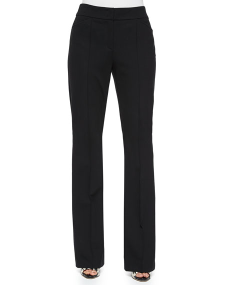 Escada Dondi Boot-Cut Pants, Black