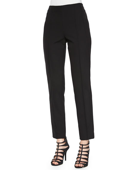 Escada Hepburn Slim Stretch Pants, Black