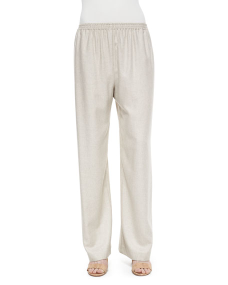 Cashmere-Blend Basketweave Trousers