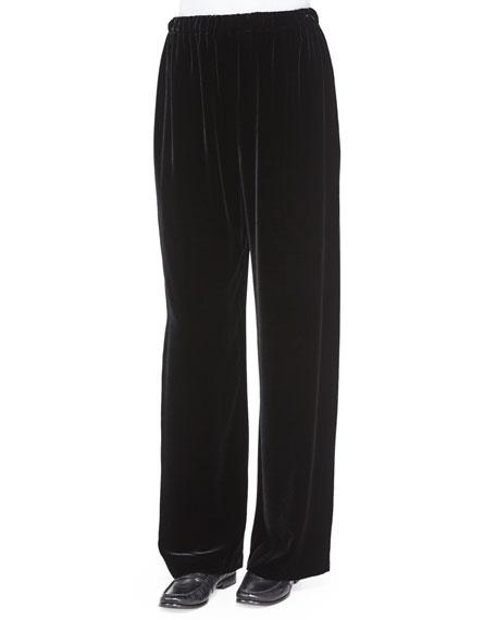 Velvet Wide-Leg Trousers