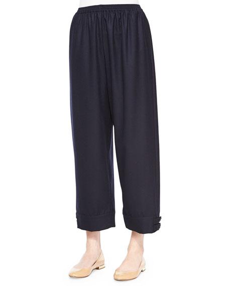 eskandar Top-Pleated Button-Cuff Slim Trouser