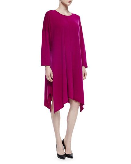eskandar Cashmere Handkerchief A-Line Dress