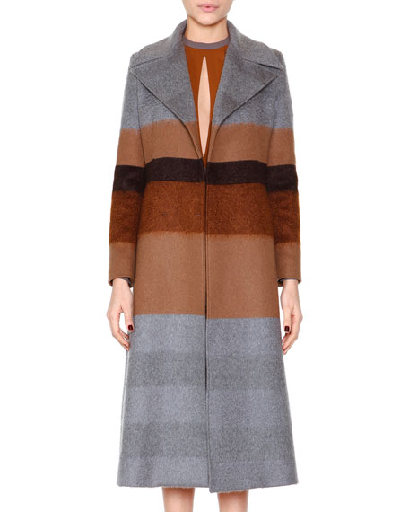 Etro Striped Wool-Blend Coat