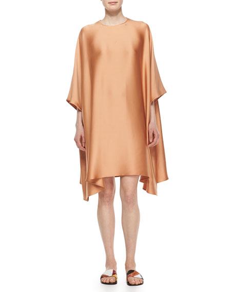 THE ROW 3/4-Sleeve Satin Caftan Dress