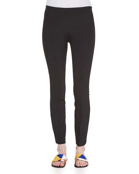 THE ROW Skinny Side-Zip Pants, Black
