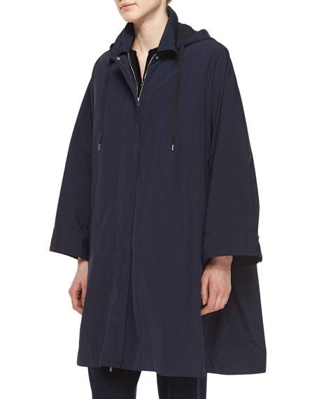 THE ROWWater-Repellant Hooded Raincoat, Navy