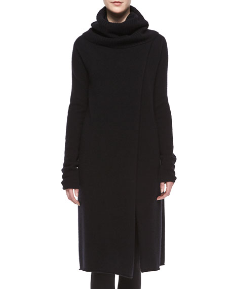 THE ROW Turtleneck Slit-Front Long Cashmere Sweater