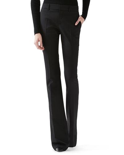 Wool Skinny Flare Pant