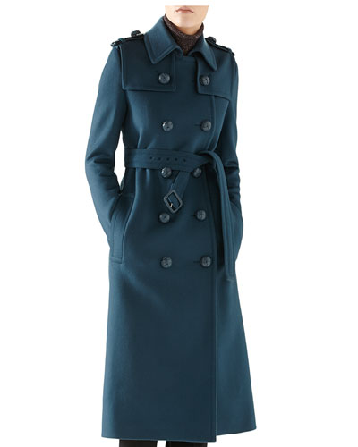 Wool Double-Breasted Trenchcoat