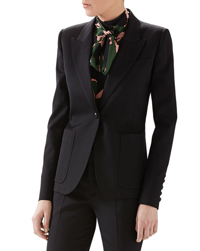 Wool Single-Breasted Blazer