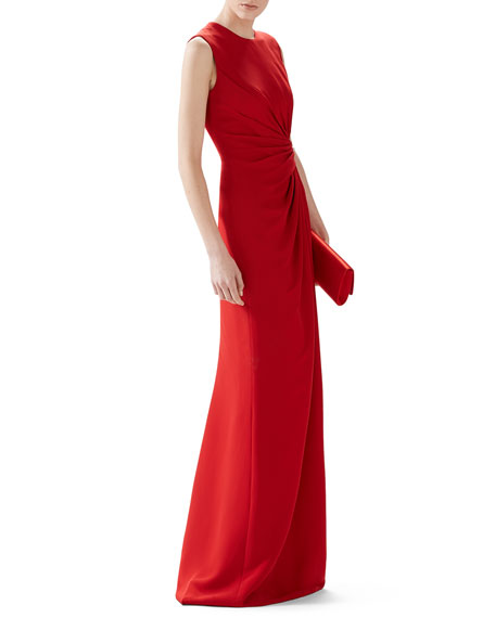 SL RUCHED EMBLSH WAIST GOWN