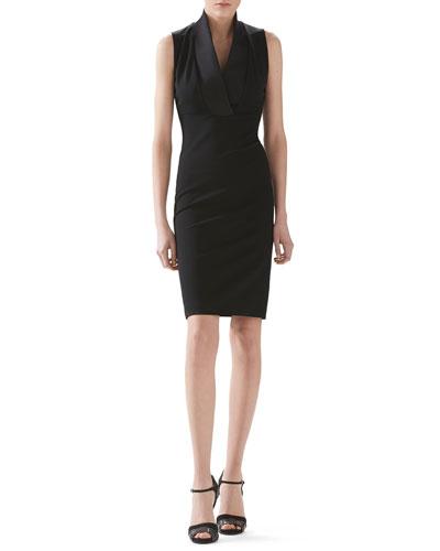 Viscose Jersey And Silk Dress