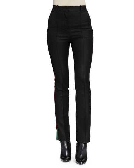 Givenchy Piped Side-Striped Slim Pants