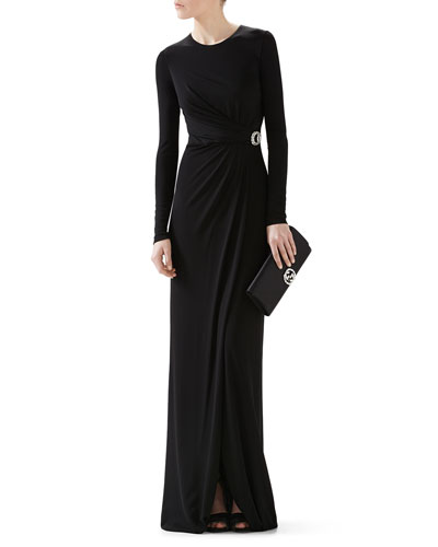 Crepe Viscose Jersey Gown