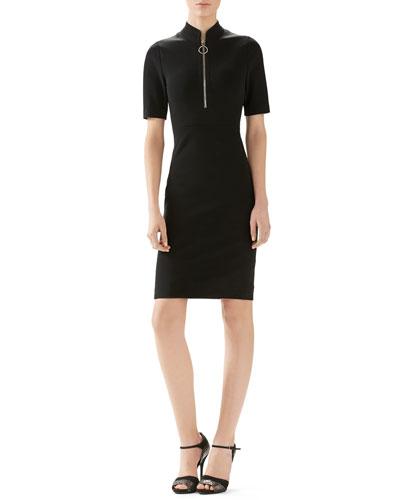 Compact Viscose Jersey Dress