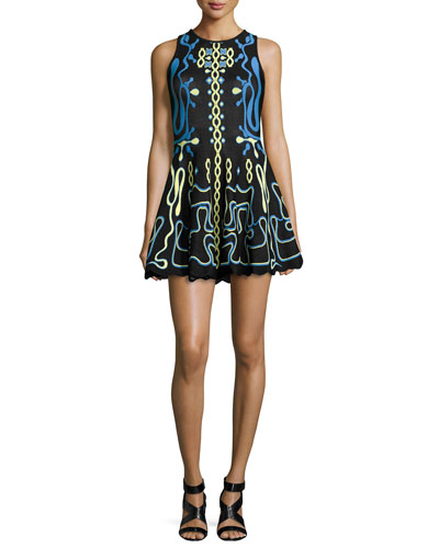 List Of Luxury Women's Designer Clothes Fit And Flare Dress