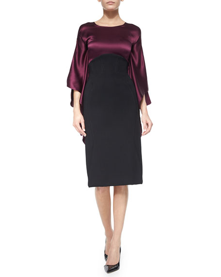 Zac Posen High-Waist Pencil Skirt, Black