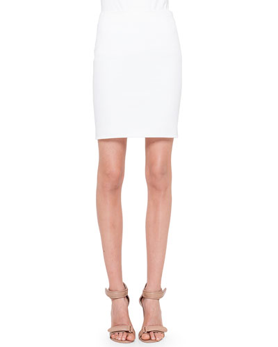 Mid-Length Woven Pencil Skirt
