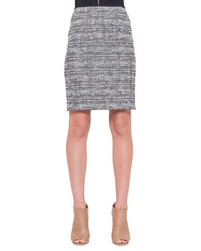 Check Tweed Pencil Skirt