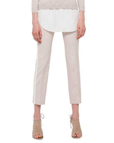 Franca Side-Striped Ankle Pants