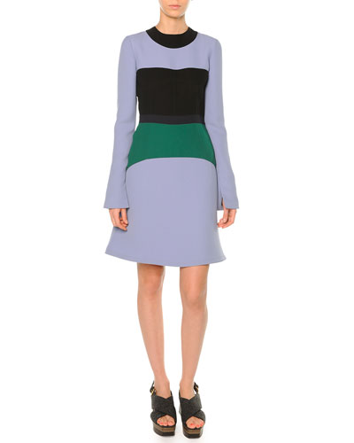 Colorblock Cady Bell Dress