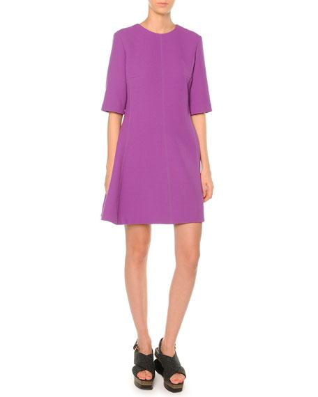 Marni Half-Sleeve Flared Dress