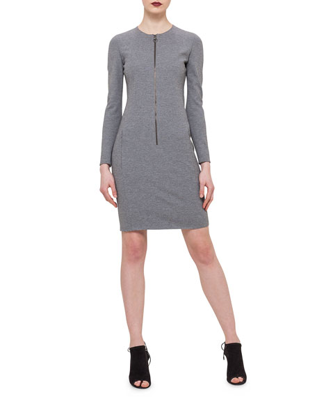 Akris punto Front-Zip Sheath Dress