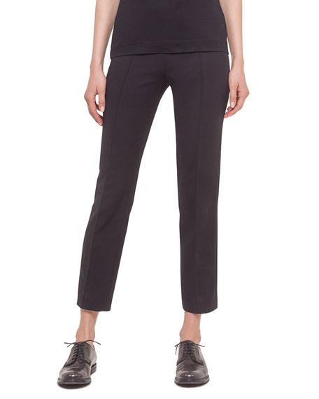 Akris punto Franca Cropped Knit Pants, Black