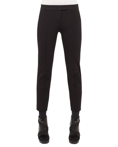 Mara Skinny Knit Pants, Black