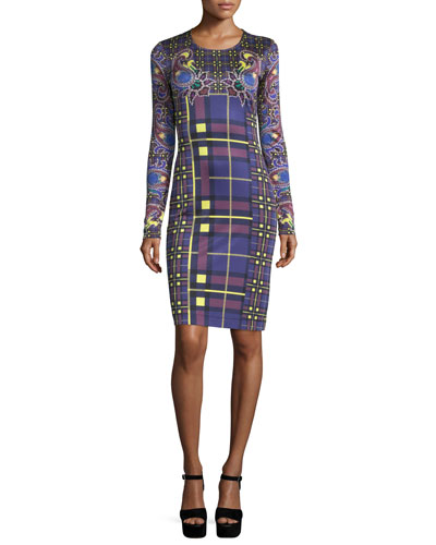 Heritage Paisley-Print Sheath Dress