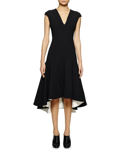 Stella McCartney V-Neck Jersey Handkerchief Dress