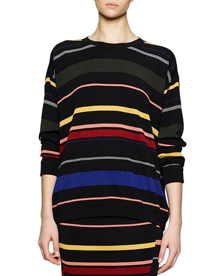 Stella McCartney Crewneck Striped Knit Top