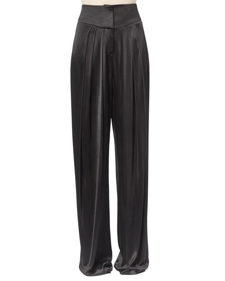 Balmain Pleated Satin Pants