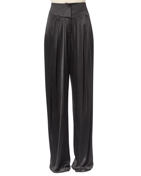 Balmain Pleated Satin Pants