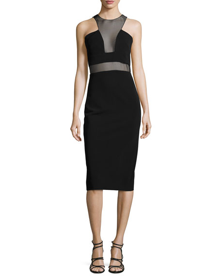 Cushnie et Ochs Organza-Inset Sheath Dress