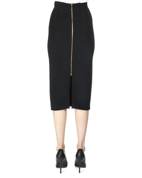 Arreton Pencil Skirt, Black