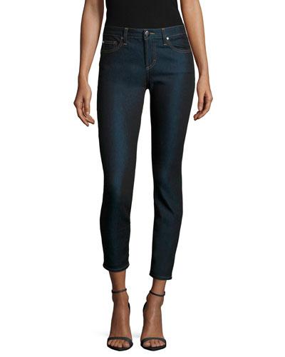 Cropped Denim Skinny Jeans