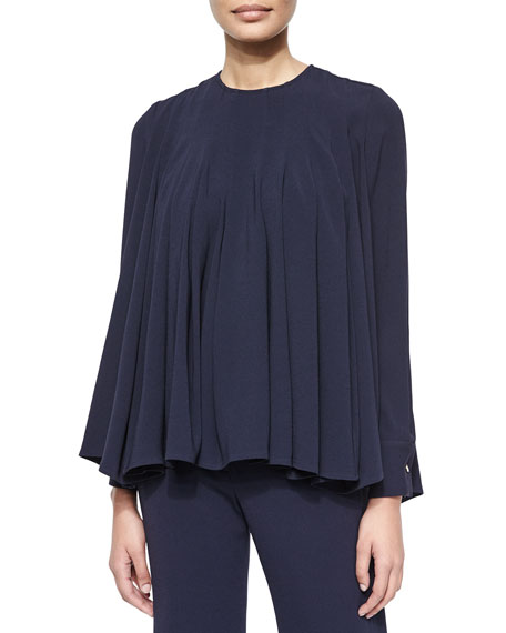 Co Pleated Crepe Swing Top