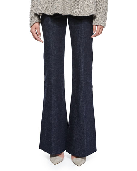 Co High-Waist Flare-Leg Denim Pants, Indigo