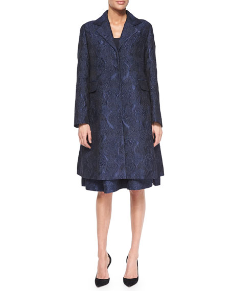 Co Jacquard A-Line Coat