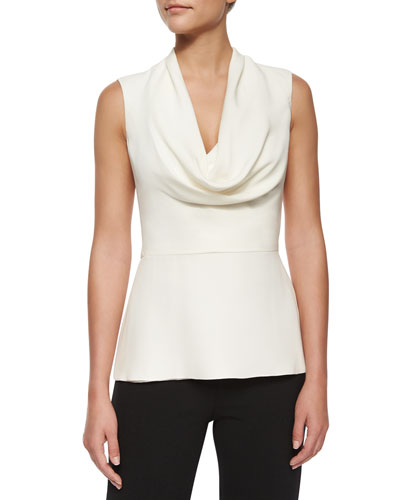 Cowl-Neck Peplum Top